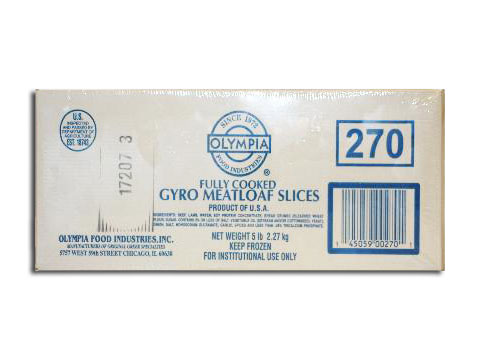 Gyro Cooked & Sliced Olympia 5 lb